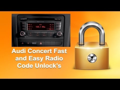 How To Find Audi Concert Using Serial No.