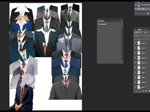 Tagalog Tutorial on How to make Passport ID, etc..  using suits template in Photoshop
