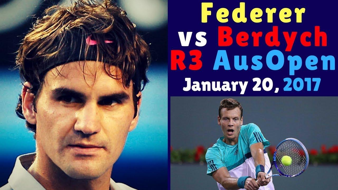 🏅 Roger Federer vs Tomas Berdych – Australian Open 2017 R3 – Highlights HD – ITA Language 🏅