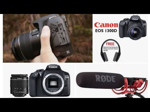 How use mic on canon1300D in Hindi