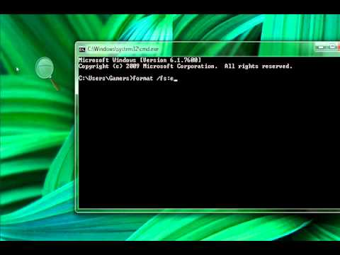 How to quick format any disk using CMD(Command Prompt)/DOS