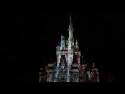 Celebrate the Magic - Magic Kingdom Projection Show Disney World