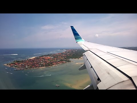 Garuda Indonesia Beautiful Landing Bali  Denpasar Ngurah Rai International Airport