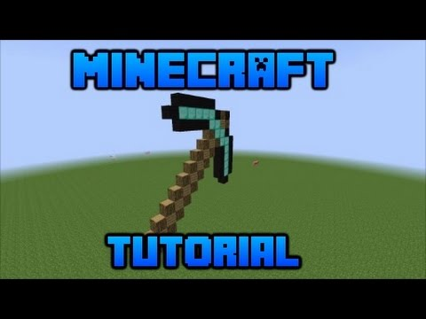 How To Make a Diamond Pick Axe In Minecraft!