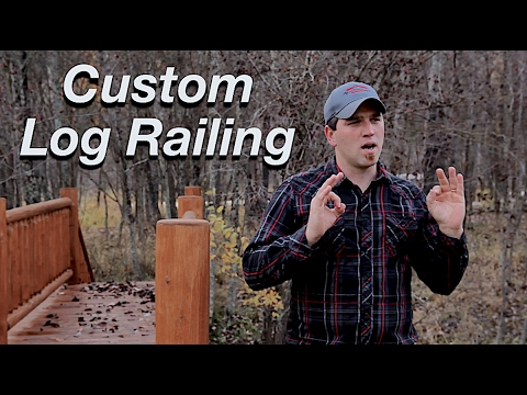 Custom Log Railing - Wildcat Wood