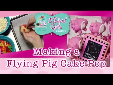 Making a Flying Pig Cake Pop - 3 Sweet Girls Cakery