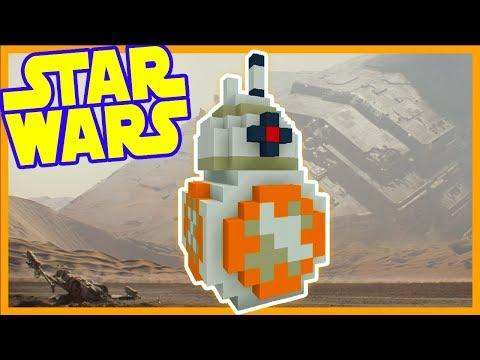 Minecraft Tutorial: How To Make A BB-8 Statue (Star Wars The Last Jedi)