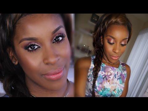 Prom Rose Gold Makeup + Hair Look | Jackie Aina