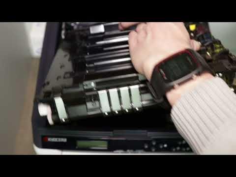 Kyocera FS-C5250DN Transferband reinigen / Transfer Belt cleaning