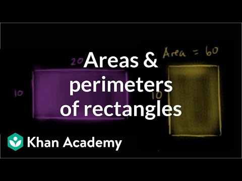 Comparing areas and perimeters of rectangles | Measurement | Pre-Algebra | Khan Academy