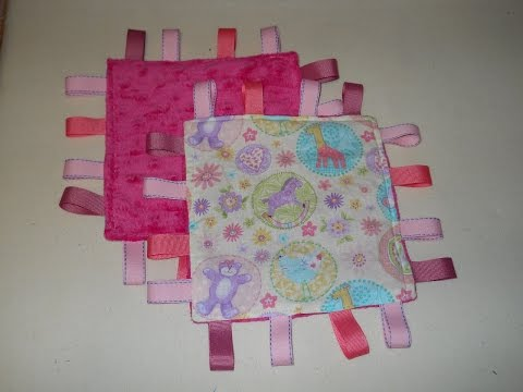 Crinkle Tag Rag for Baby