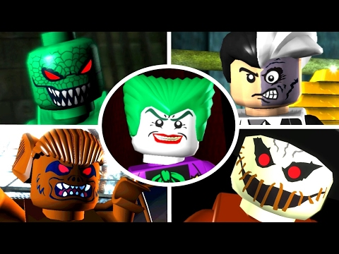LEGO Batman The Videogame - All 15 Villain Boss Fights (Hero Missions)