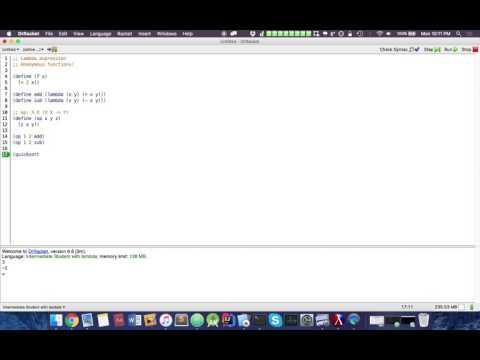 Functional Programming (Racket): Lambda Expressions