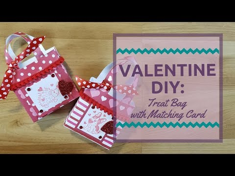 Valentine DIY: Treat Bag with Matching Card