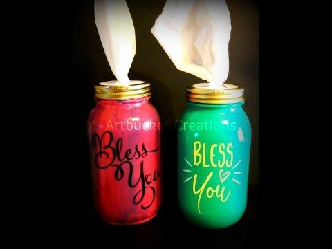 DIY Mason Jar Kleenex Holders-CraftingWhileAdulting.Com