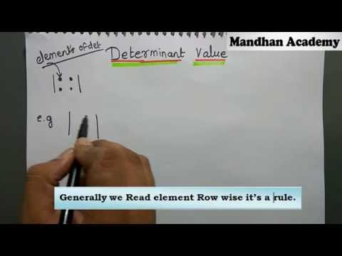 Determinant value Basics for 2x2 and 3x3   Class 11: CBSE : NCERT