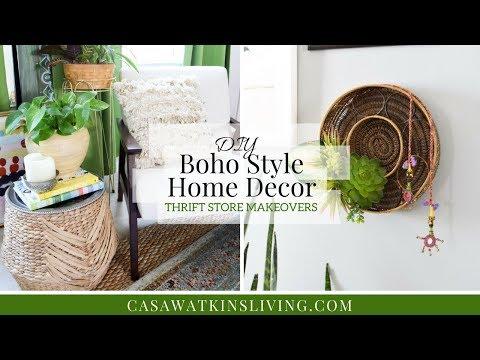 DIY Boho Style Home Decor   Thrift Store Makeovers
