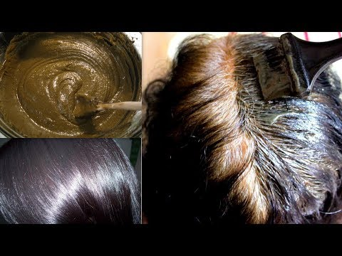 WHITE HAIR TO BLACK HAIR PERMANENTLY | NATURAL HAIR DYE | GET LONG,SILKY,HEALTHY HAIR NATURALLY