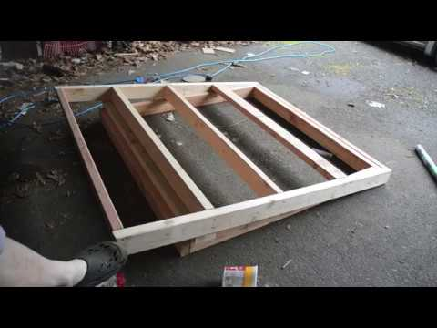 Latex Cement Roof Experiment Outhouse Build Part 1