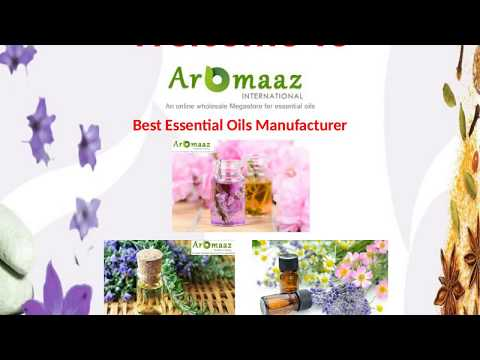 World's Best Essential Oils Manufacturer