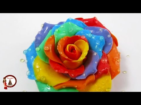 Wet Rainbow Roses out of gumpaste