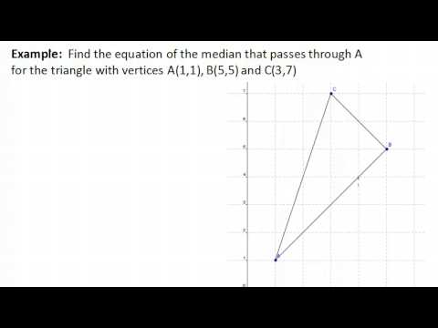 Median of a Triangle: Find the Equation