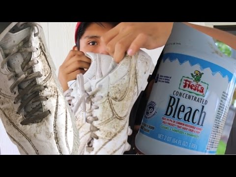 BLEACH on WHITE Soccer Cleats/Football Boots?!?!