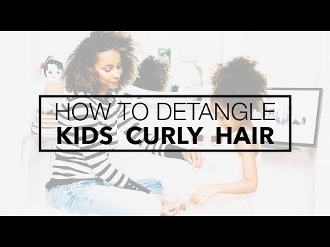 How To Detangle Kids' Curly Hair | Scout The City
