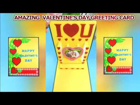 Beautiful Handmade valentine day card || DIY Handmade valentine's day pop up card || valentine's day