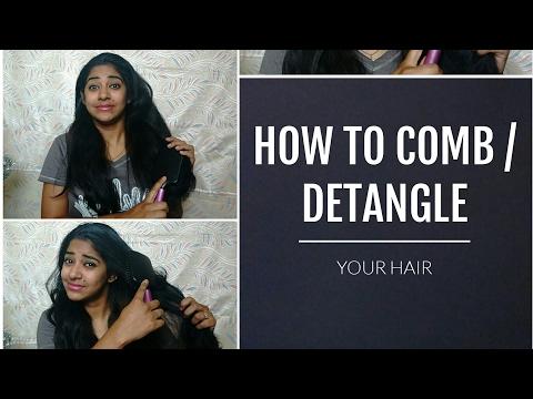 How to comb / detangle hair | control hair damage and hairfall