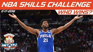 2018 Taco Bell Skills Challenge   Who will win ?   Hoops & Brews