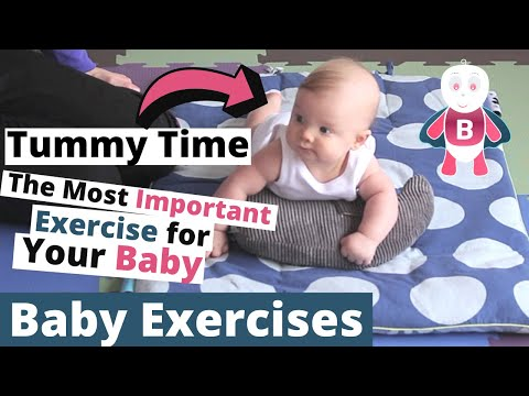 How to do Tummy Time - Baby Playtime Exercises #0-3 Months - Baby Activities, Baby Development