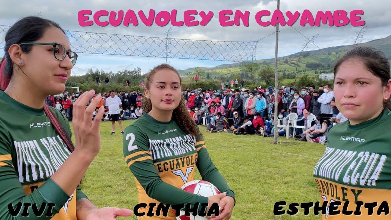 ★PARTIDAZO DE ECUAVOLEY EN CAYAMBE★🙀MUJERES vs HOMBRES |VIVI-CINTHIA-ESTHELITA vs HNOS. ULCUANGO|