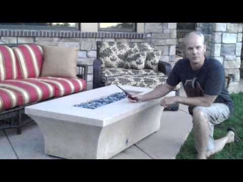 How to light your manual gas firepit safely