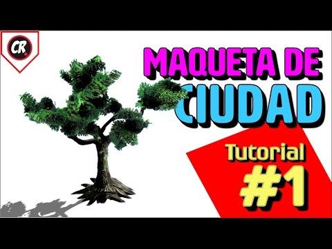 MAQUETA DE LA CIUDAD #1 | Cómo hacer ÁRBOLES PARA MAQUETAS