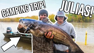 GIANT CATFISH CATCH & COOK! ALL NIGHT FISHING TRIP with JULIUS!