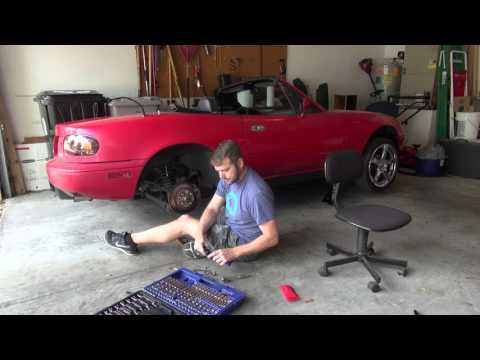 1990 Miata Project Episode 07 - Rear Passenger Brake Rotor and Pads