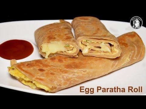 Kids Favourite Egg Paratha Roll - Egg Recipe for Breakfast - School Lunch Box Ideas For Kids