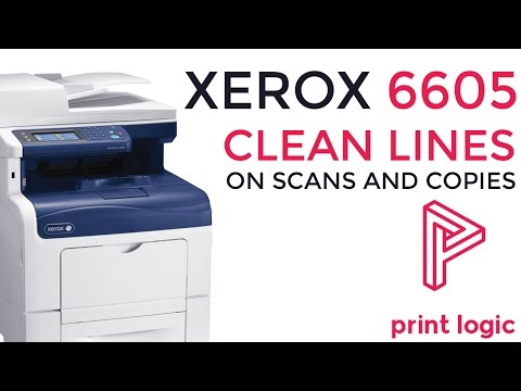 Xerox 6605 | Cleaning Lines on Copies and Scans