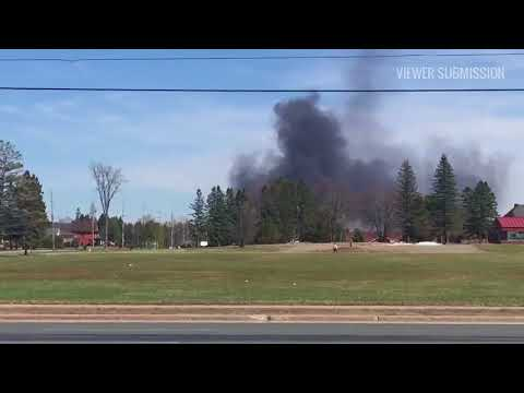 View submitted video of fire on Third Line