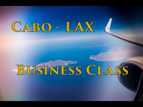 AA 737-800 Los Cabos-LAX Business Class & Rainy Day Landing