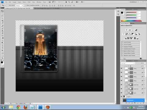 Photoshop - Creating DVD Case