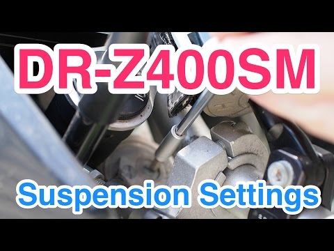 Playing with DR-Z400SM Suspension Settings