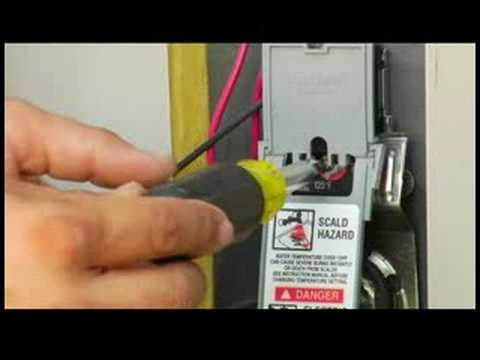 Home Maintenance: Electrical Repair : How to Adjust Water-Heater Temperature