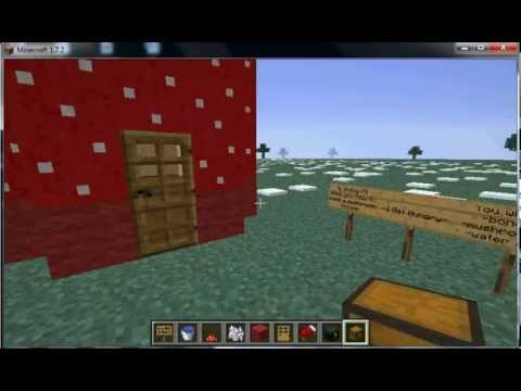 How to make a mushroom house in minecraft
