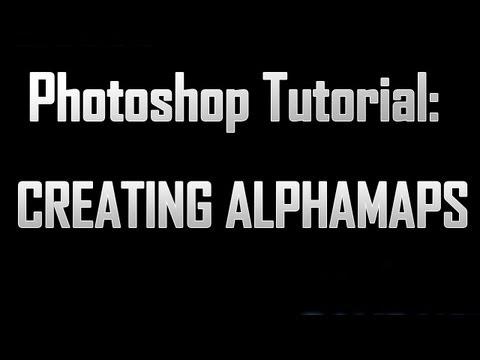 [Photoshop] Creating Alphamaps in photoshop (+Unity)