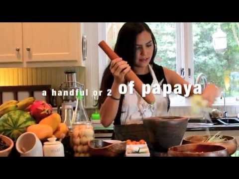 Raw Vegan Thai Papaya Salad