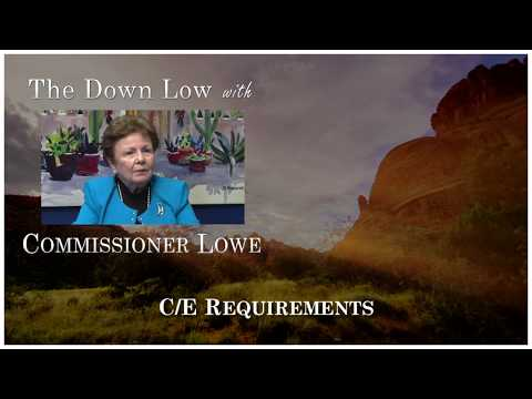ADRE Commissioner Judy Lowe (2017) - Continuing Education Requirements