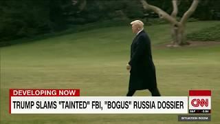 Trump slams Russia dossier as