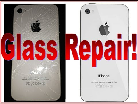 IPHONE 4 BROKEN GLASS BACK COVER REPAIR AND  REPLACEMENT